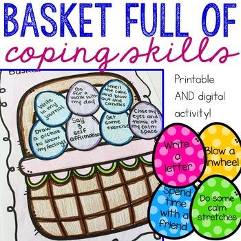 Basket Full of Coping Skills Spring Handouts for Elementar
