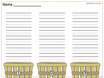Basket Full of Syllables-Fall Syllable Practice