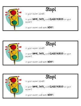 Basket Instructions for Student Work