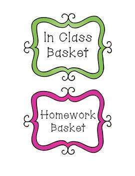 Basket Labels