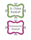 Basket Labels