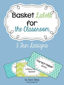 Basket Labels for the Classroom