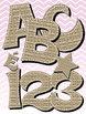 Basket Weave Alphabet Two Colors • Vector PDF • 300 DPI PNG • Spanish Letters