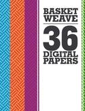 Basket Weave Digital Papers