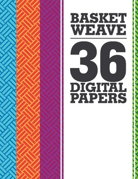 Basket Weave Digital Papers