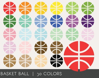 Basket ball Digital Clipart, Basket ball Graphics, Basket