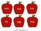 Sort CVC words by short vowel sounds: Basket of Apples