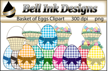 Basket of Eggs Clipart