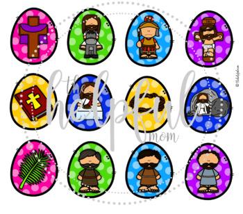 Basket of Eggs - Holy Week/Easter theme - freebie