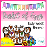 Basket of Eggs - Holy Week/Easter theme - freebie