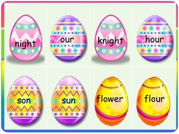 Basket of Eggs Homophone Game