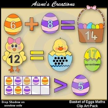 Basket of Eggs Math Clip Art Pack