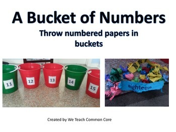 11-20 Basket of Numbers Math Center Activity Data Collecting and Hands On