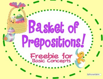 Basket of Prepositions - Freebie!