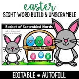 Basket of Words Build and Unscramble (Sight Words)