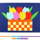 Basket of tulips paper craft