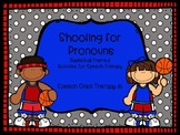 Basketball Pronoun Packet for Speech Therapy