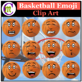 Basketball Emojis Clipart 1 | Sports Ball Emotions Clip Art