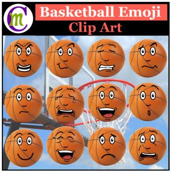 Basketball Emojis Clipart 1 | Sports Ball Emotions Clip Art