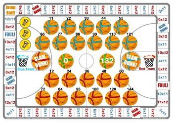 Basketball 11 and 12 Times Table Game