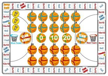 Basketball 2 and 10 Times Table Game