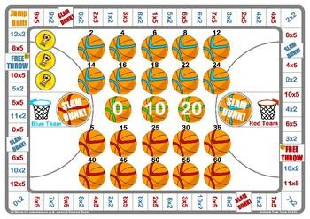 Basketball 2 and 5 Times Table Game