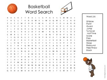 Basketball Word Search | Basketball Wordsearch ...