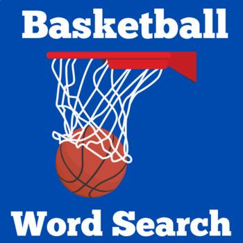 Basketball Theme | Basketball Activity | Basketball Word Search