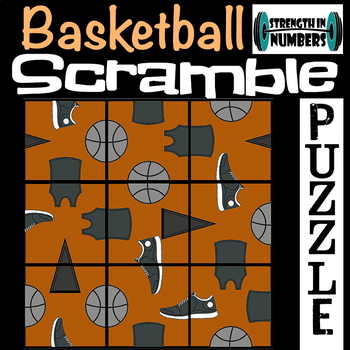 Basketball 3x3 SCRAMBLE Puzzle for Early Finishers