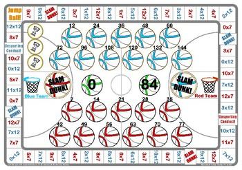 Basketball 7 and 12 Times Table Game