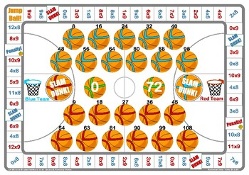 Basketball 8 and 9 Times Table Game