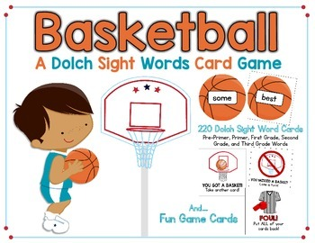 Basketball:  A Sight Words Card Game With All 220 Sight Words!