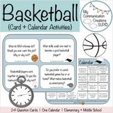 Basketball Activities (Calendar + Q + A Cards) - March Madness!