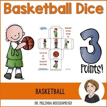 Basketball Activity Dice