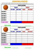 Basketball Addition Game