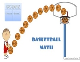 Basketball Addition and Subtraction Game (with/without reg