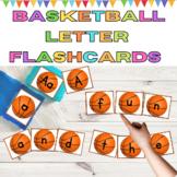 Basketball Alphabet Letter Flashcards