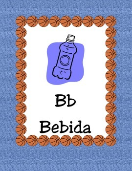 Basketball-Alphabet Posters Spanish