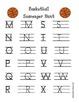 Basketball Alphabet Scavenger Hunt, Write the Room Sports Activity