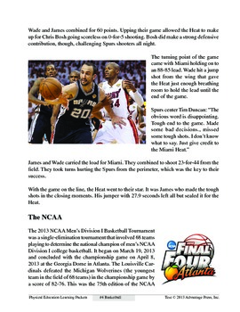 Basketball: An Academic Learning Packet