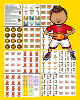 Basketball Literacy Centers: Antonyms - 60 Pairs - 120 Words