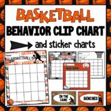 Basketball Behavior Clip Chart and Behavior Chart- Editable