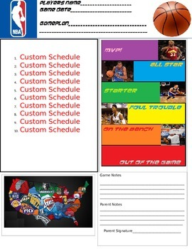 Basketball Behavior Folder Positive Behavior