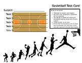 Behavior Task Card - Basketball