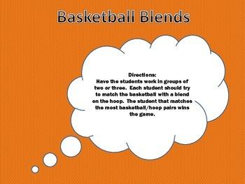 Basketball Blends File Folder Game