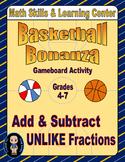 "Basketball Math Skills & Learning Center (Add & Subtract """