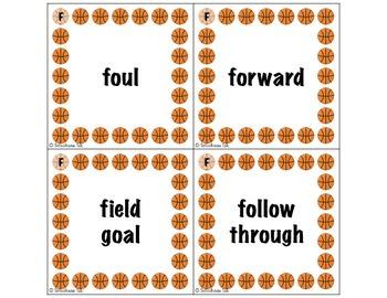 Basketball Bonanza {CH/SH, R, S, L, G/K, F words)