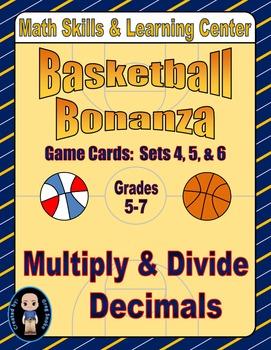 Basketball Bonanza Game Cards (Multiply & Divide Decimals) Sets 4-5-6