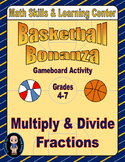 Basketball Math Skills & Learning Center (Multiply & Divid