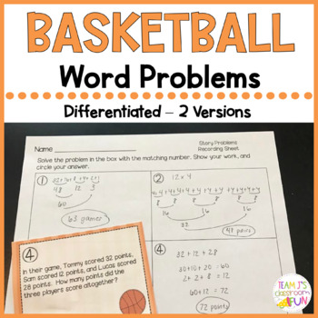 Basketball Bonanza Story Problems